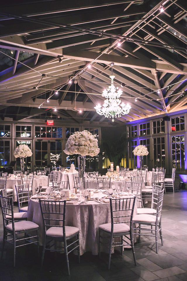The Conservatory Set for a Rochester Wedding Reception