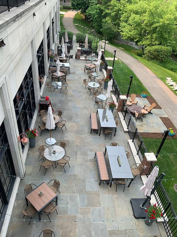 The Terrace Restaurant at our Rochester Hotel