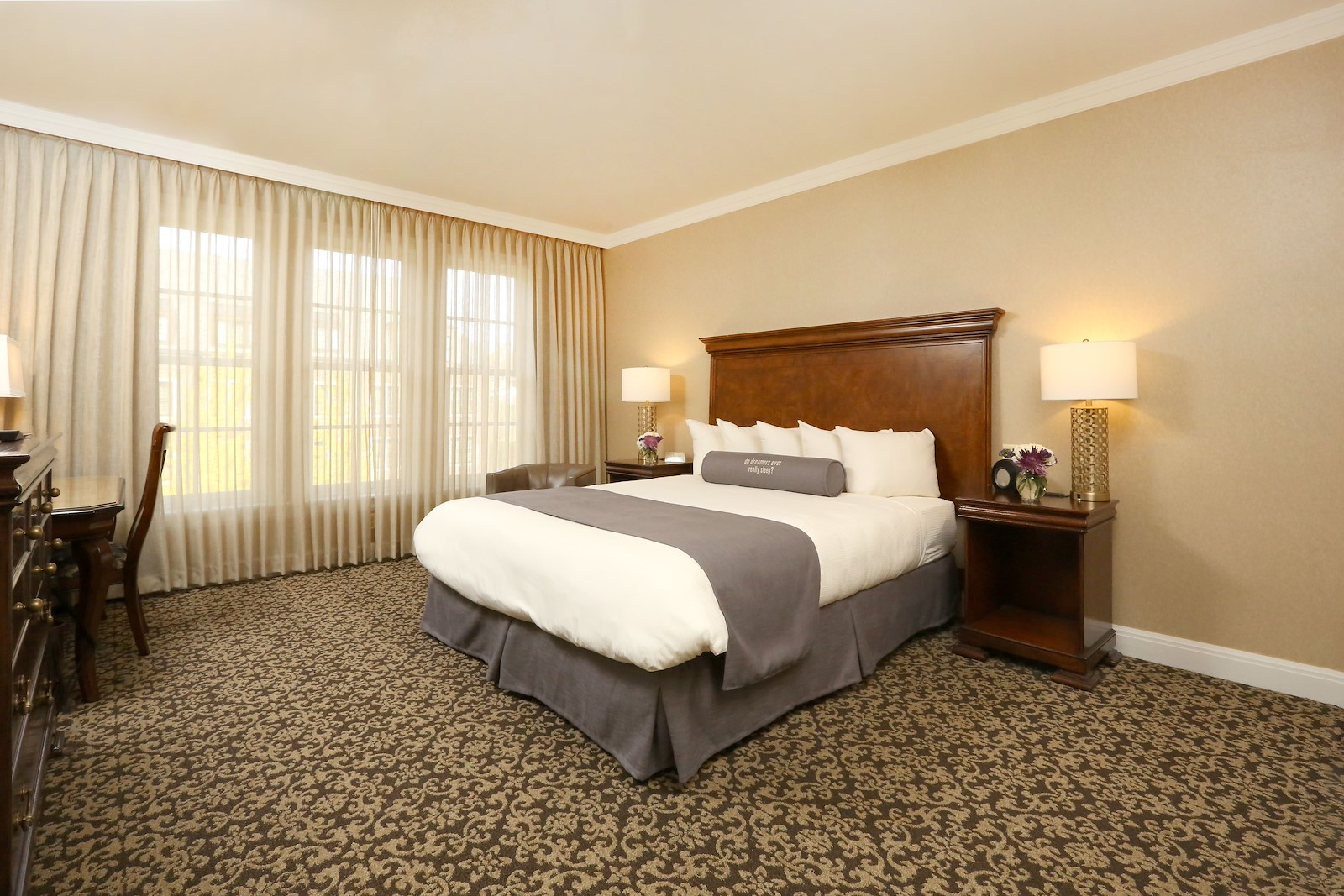 Executive King Guest Room at Royal Park Hotel in Rochester Michigan
