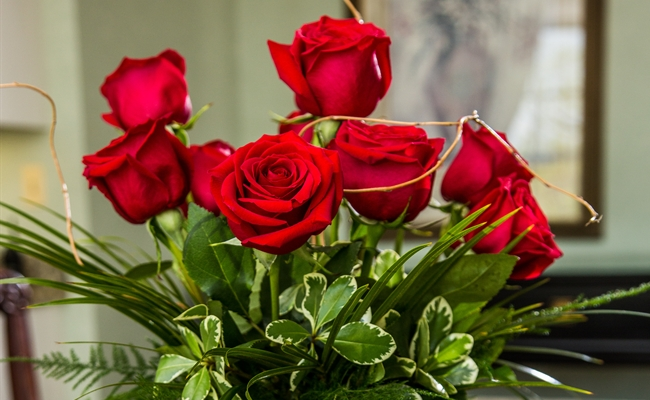 Romantic Roses from Room Service at Royal Park Hotel in Rochester Michigan