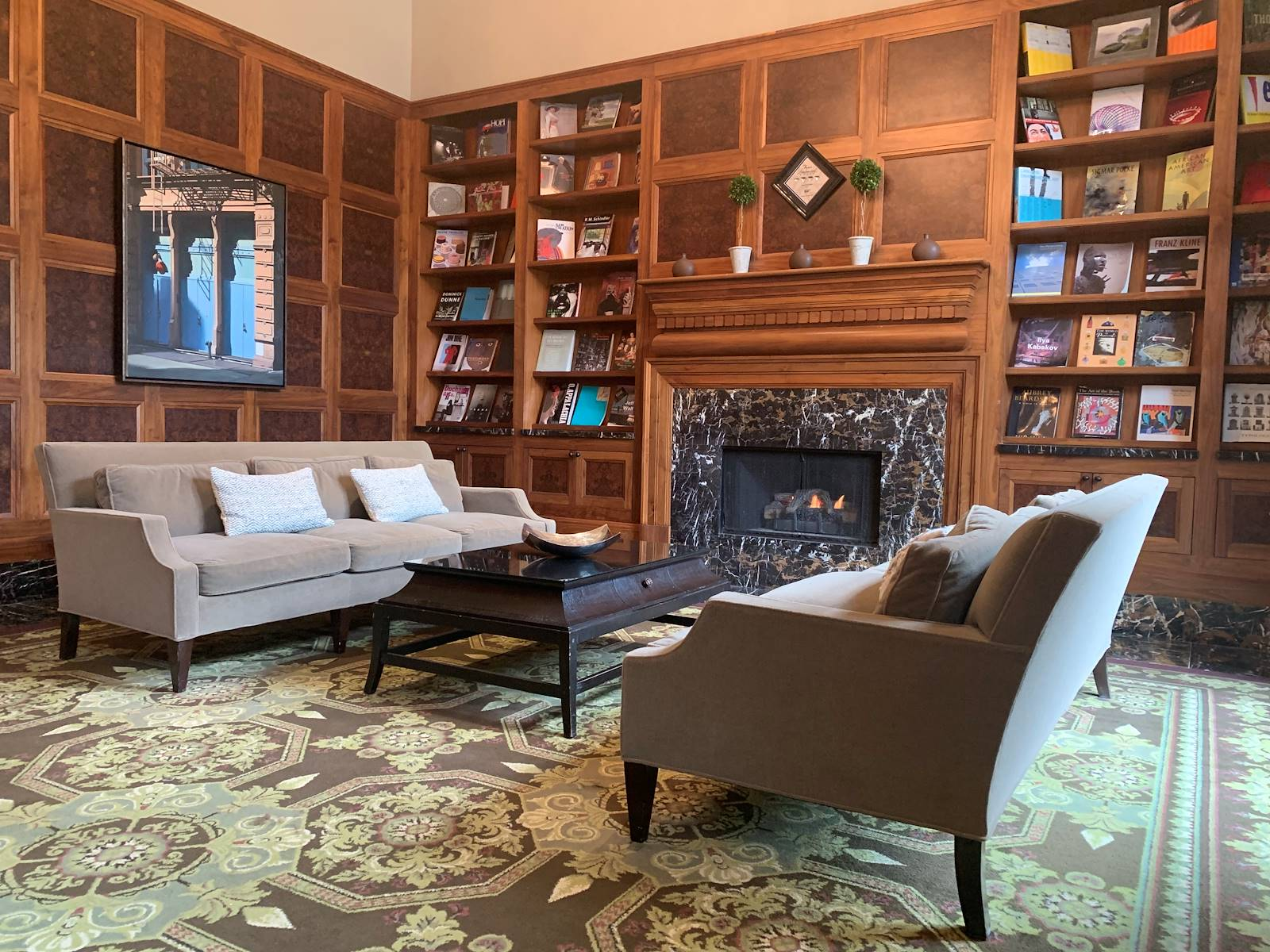 Library at Royal Park Hotel in Rochester MI