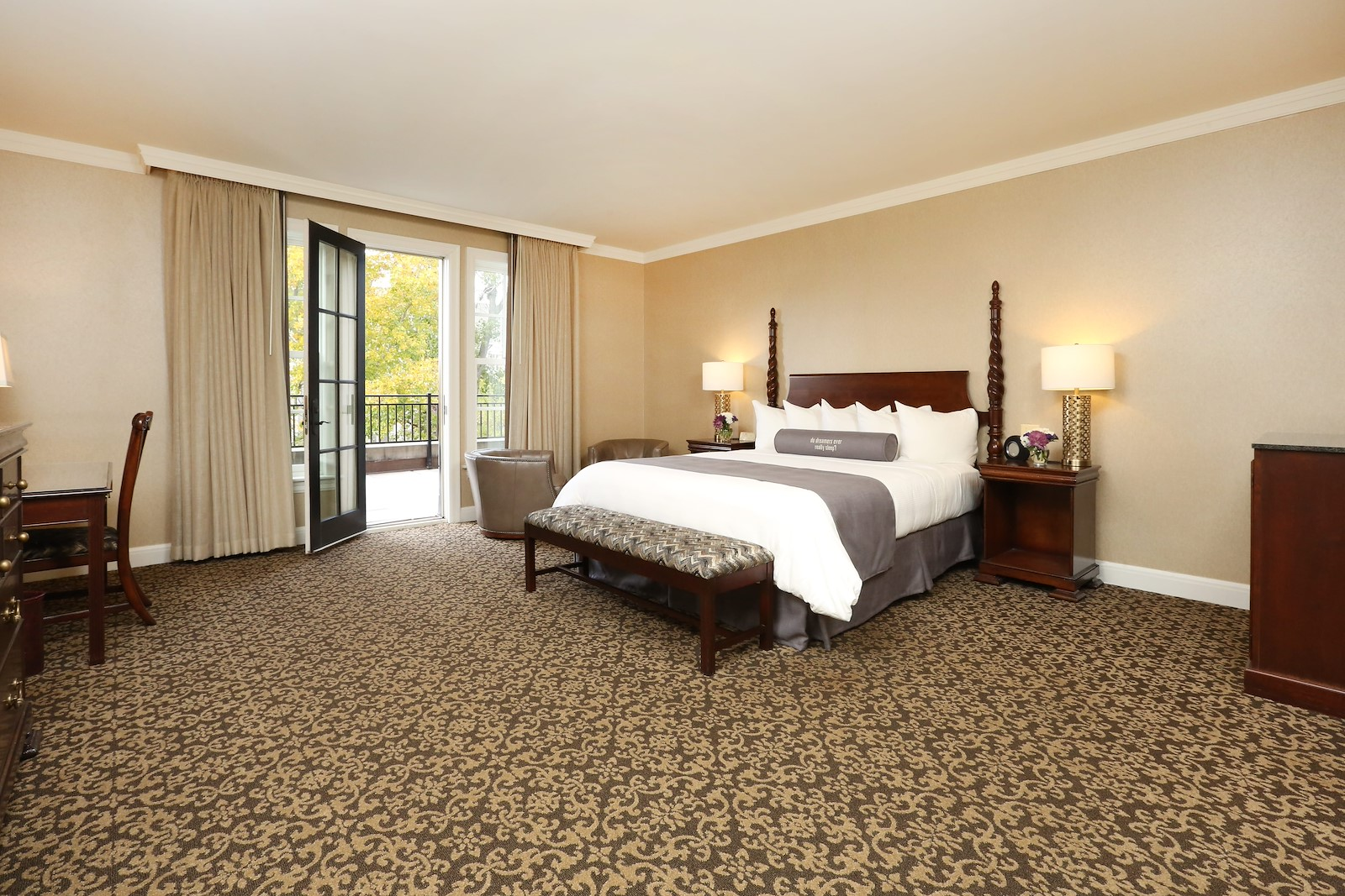 Royal Park Hotel's Luxury King Terrace Room in Rochester Michigan
