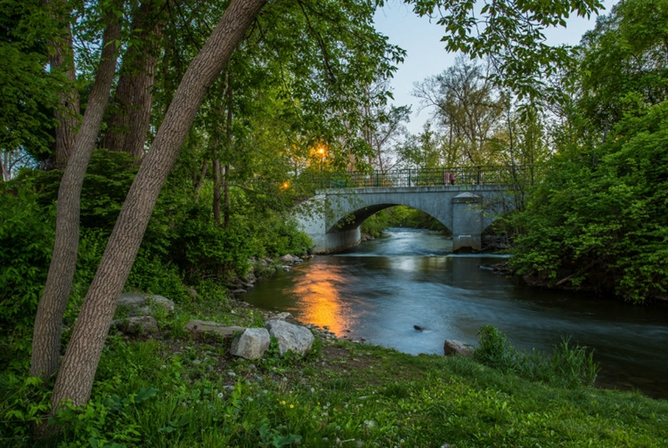Paint Creek River at Royal Park Hotel in Rochester Michigan