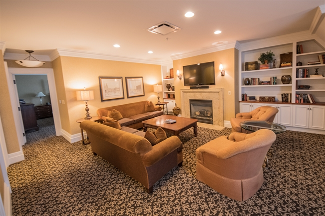 Royal Park's Hotel Suite Living Room Coffee Table in Rochester Michigan