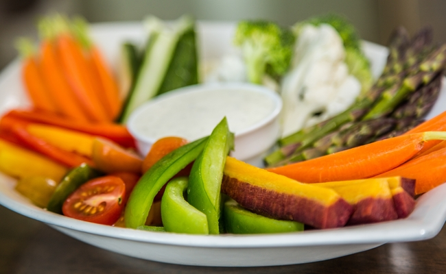 Vegetable Platter at Royal Park Hotel in Rochester Michigan